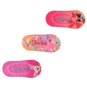 Skechers Kids Printed Liner Socks 3 Pack Girls