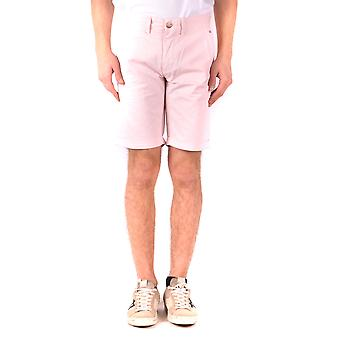 Sol 68 rosa Shorts de algodão