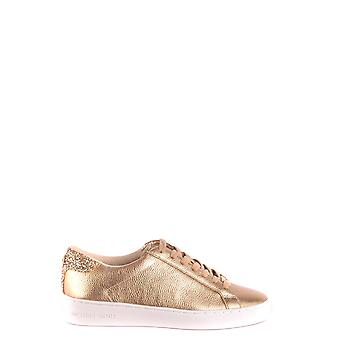 Michael Kors Gold Leather Sneakers