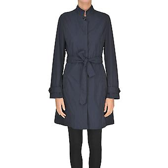 Add Blue Polyester Coat