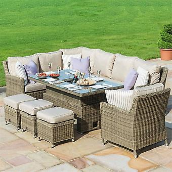 Maze Rattan Winchester Venice Rising Table Corner Dining with Armchair