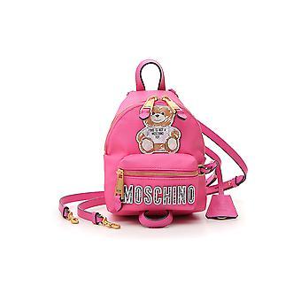Moschino Fuchsia Leather Backpack