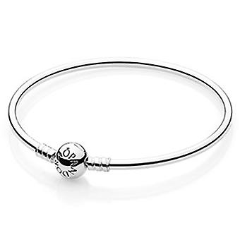 Pandora Moments Sterling Silver Charm Bangle 17CM - 590713-17