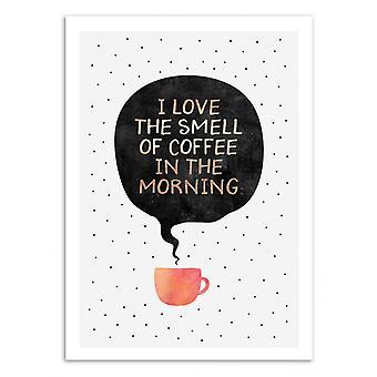 Art-poster-doften av kaffe-Elisabeth Fredriksson 50 x 70 cm