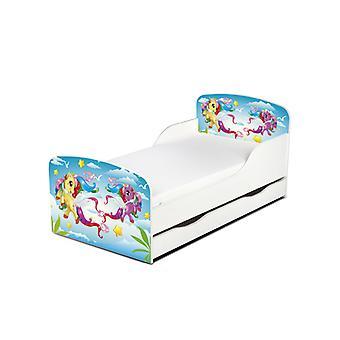 Lit pour tout-petits de poney magique de PriceRightHome avec le stockage de sous-lit