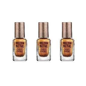 Barry M 3 X Barry M Molten Metal Nail Paint - Gold Rush