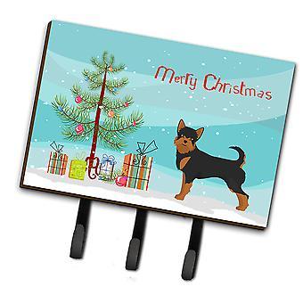 Black and Tan Chorkie Christmas Tree Leash or Key Holder