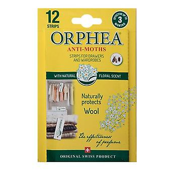 Orphea Moth Repellent Strips from Caraselle. 12 strips per pack