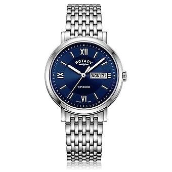 Rotary   Gents Stainless Steel Bracelet   Blue Dial   GB05300/66 Watch