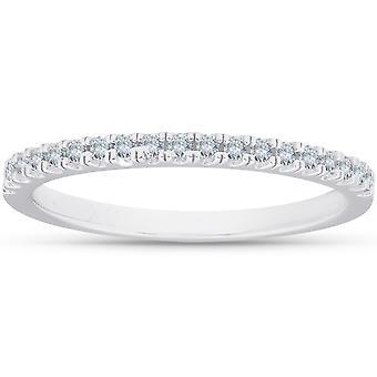 1/5 cttw timantti pinottava naisten vihkisormus 10k valkokulta