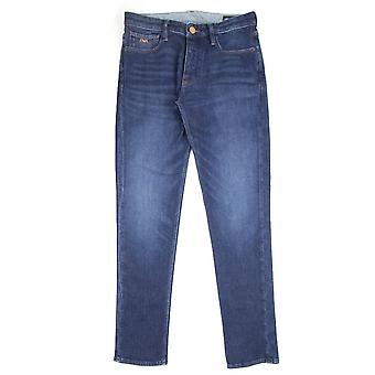 Emporio Armani J75 Slim Fit Selvedge Jeans Denim Blue 0941