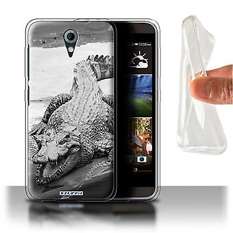 STUFF4 Gel/TPU Case/Cover für Zootiere in HTC Desire 820 Mini/Krokodil/Mono