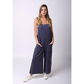 Bernstein lose fit Jersey dungarees Holzkohle