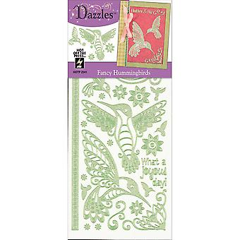Dazzles Stickers-Fancy Hummingbirds DAZ-2541