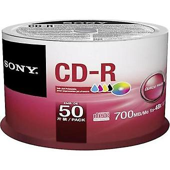 Blank CD-R 700 MB Sony 50CDQ80PP 50 pc(s) Spindle Printable