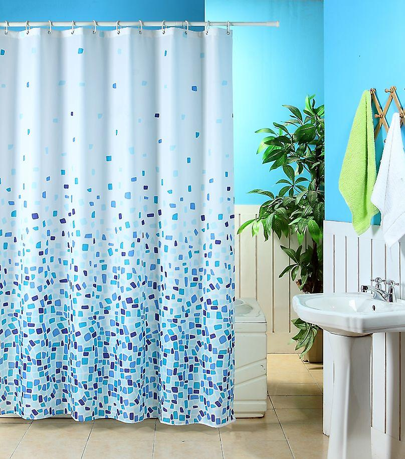 Mosaic Pattern Polyester Shower Curtain 180 x 180cm