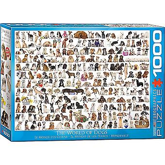 World of Dogs 1000 piece jigsaw puzzle 680mm x 490mm  (pz)