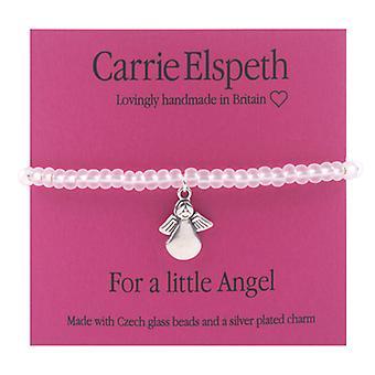 Carrie Elspeth For a Little Angel Children`s Sentiments Stretch Bracelet
