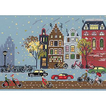 Cycle Lane Counted Cross Stitch Kit-11.75