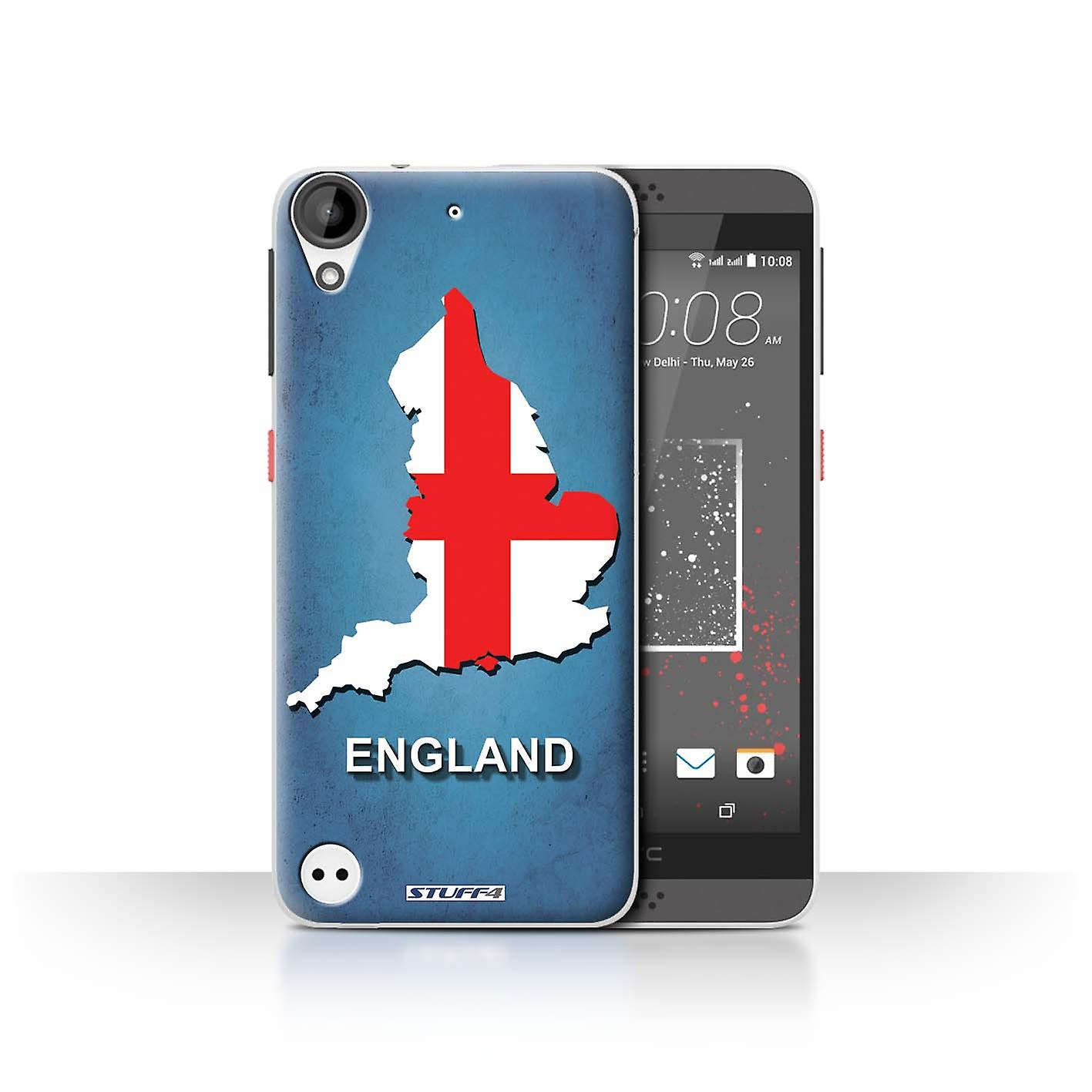 STUFF4 Case/Cover for HTC Desire 630/England/English/Flag Nations