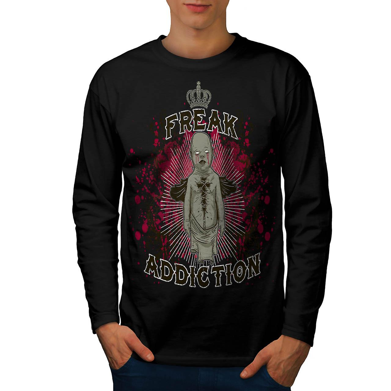Freak Royal dipendenza fantasma bambino nero t-shirt manica lunga | Wellcoda