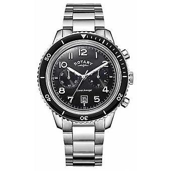 Rotary Mens Ocean Avenger Chronograph Black Dial GB05021/04 Watch
