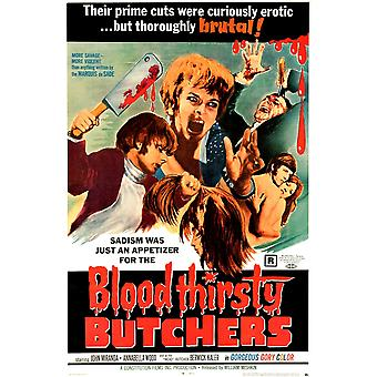 Bloodthirsty Butchers Us Poster Art 1970 Movie Poster Masterprint