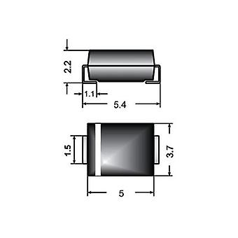Zener diode Z2SMB24 Enclosure type (semiconductors) DO 214AA Semikron Zener voltage 24 V Max. power (P total) 2 W
