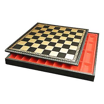 17 Inch Pressed Leather Chest Chess Board