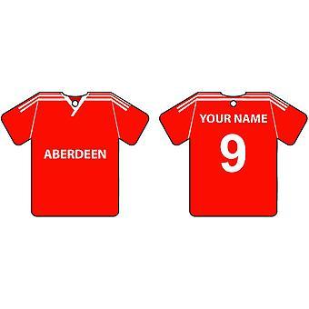 Personalised Aberdeen Football Shirt Car Air Freshener