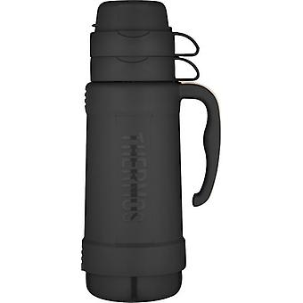 Genuine Thermos Eclipse Glass Vacuum Travel Handle Flask 1.0L Black