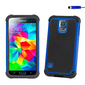Shockproof case + stylus for Samsung Galaxy S5 Mini (SM-G800) - Deep Blue