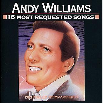 アンディ ・ ウィリアムス - 16 の最も要求された歌 [CD] USA 輸入