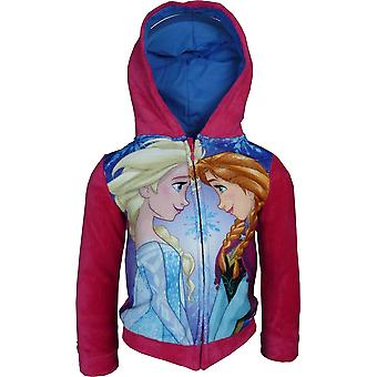 Girls Disney Frozen Elsa & Anna Fleece Full Zip Hooded Sweatshirt