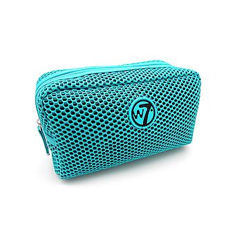 W7 Turquoise Mesh Small Cosmetic Toiletry Make Up Bag