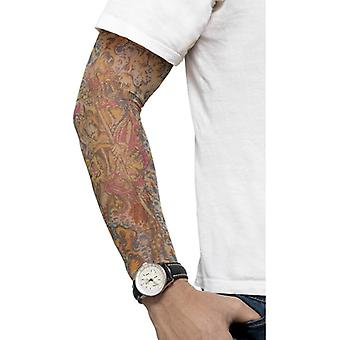Tattooarm fake tattoos colored prank rocker