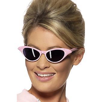 50s 60s diamond ladies glasses pink