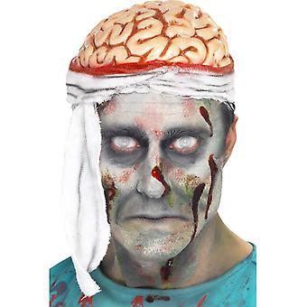 Brain Cap skallen hjerne bandasjer Hat Halloween
