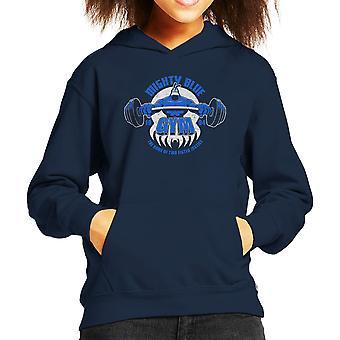 Mægtige blå Gym kryds barns hættetrøje