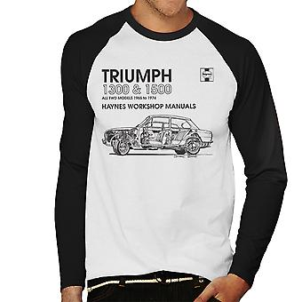Haynes Workshop Manual 0086 Triumph 1300 1500 Black Men's Baseball Long Sleeved T-Shirt