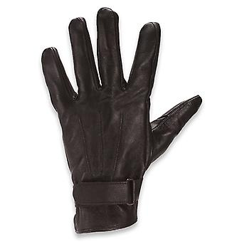 Quivano Mens Genuine Leather Gloves Strap Fastened Three Point Gents 338-200