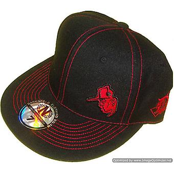 Dark n Cold Capman Lowkey Fitted Baseball Cap Black Red