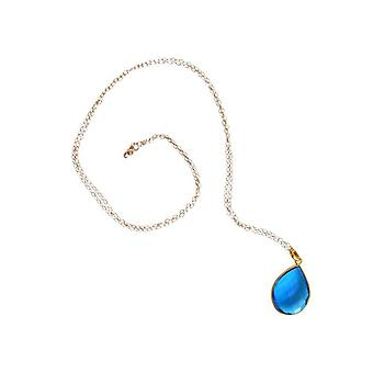 Blautopaz Topaz Blue Topaz necklace gold plated blue precious stone chain