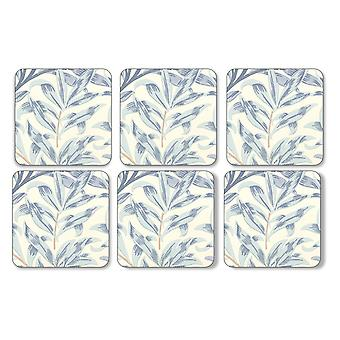 Pimpernel Willow Boughs Blue Coasters, Set of 6