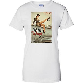 WW2 Retro Pin Up - Wings 2 - Damen-T-Shirt