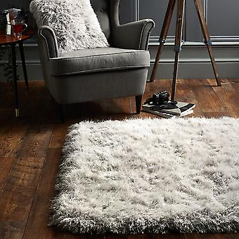 Extravagance Shaggy Rugs In Silver