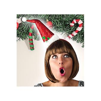 Seasonal poster lite sexig santa hatt