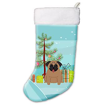 Carolines Schätze BB4130CS Merry Christmas Tree Mops braun Christmas Stocking
