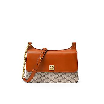 MICHAEL KORS NATALIE MEDIUM CHAIN MESSENGER BAG ORANGE  BAG