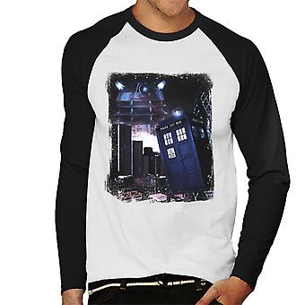 Doctor Who London Calling Herren Baseball T-Shirt Langarm